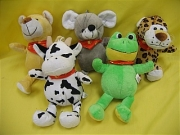 PLUSH 5 SCARF ANIMALS