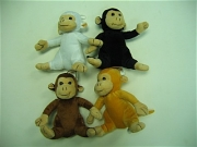 PLUSH 4 ASST MONKEYS