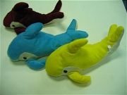 PLUSH ASST COLOR DOLPHIN